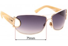Gucci GG 2760/S Replacement Sunglass Lenses - 71mm wide