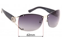 Sunglass Fix Replacement Lenses for Gucci GG 2820/F/S - 62mm Wide