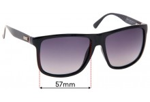 Replacement Lenses for Gucci GG1075/S - 57mm Wide