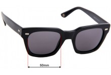 Sunglass Fix Replacement Lenses for Gucci GG 1099/S - 50mm Wide