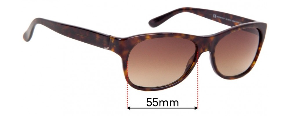 Sunglass Fix Replacement Lenses for Gucci GG 1573/S - 55mm wide