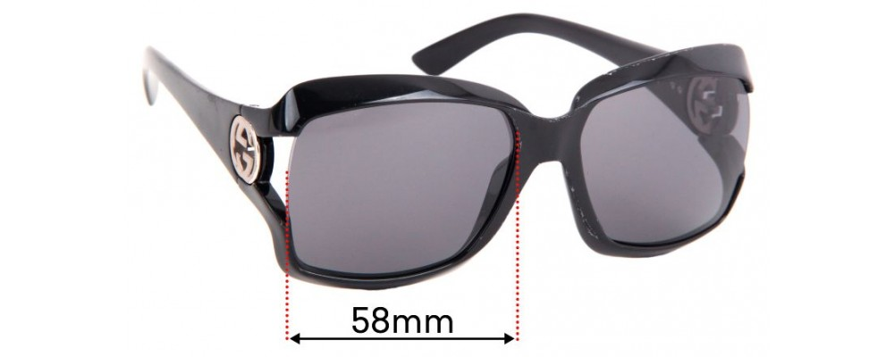 Gucci GG2598 Replacement Sunglass Lenses - 58mm Wide