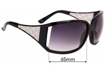 Gucci GG 2999/S Replacement Sunglass Lenses - 65mm wide