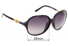 Gucci GG 3210/K/S Replacement Sunglass Lenses - 59mm wide