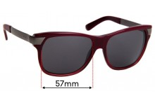 Sunglass Fix Replacement Lenses for Gucci GG3611/S - 57mm wide