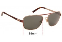 JAG 1344 Replacement Sunglass Lenses - 56mm wide