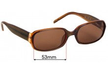 JAG 6032 Replacement Sunglass Lenses - 53mm wide