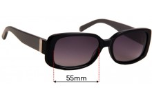 JAG 6147 Replacement Sunglass Lenses - 55mmwide