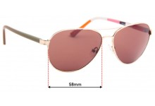 Sunglass Fix Replacement Lenses for Kate Spade Blossom/O/S - 58mm wide