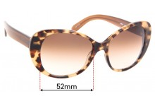 Kate Spade Emery/S Replacement Sunglass Lenses - 52mm wide