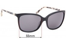 Sunglass Fix Replacement Lenses for Kate Spade Kasie/P/S - 55mm wide
