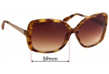 Sunglass Fix Replacement Lenses for Kate Spade Margita/O/S - 59mm Wide