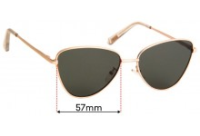Sunglass Fix Replacement Lenses for Le Specs Echo - 57mm Wide