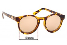 Le Specs Hey Macarena Replacement Sunglass Lenses - 51mm wide