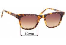Maui Jim MJ241 Aloha Friday Replacement Sunglass Lenses - 50mm Wide