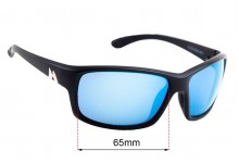 Sunglass Fix Replacement Lenses for Mako 9604 - 65mm wide