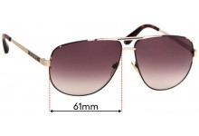 MARC BY MARC JACOBS MMJ 131/S Replacement Sunglass Lenses - 61mm Wide