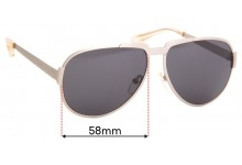 MARC BY MARC JACOBS MMJ 260/S Replacement Sunglass Lenses - 58mm Wide