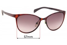 MARC BY MARC JACOBS MMJ 451/S Aioha Replacement Sunglass Lenses - 57mm Wide