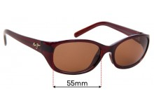 Maui Jim Kuiaha Bay MJ286 Replacement Sunglass Lenses - 55mm Wide