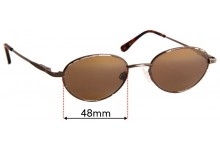 Sunglass Fix Replacement Lenses for Maui Jim MJ146 Coral Reef - 48mm Wide
