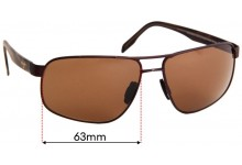 Maui Jim MJ776 Whitehaven Replacement Sunglass Lenses - 63mm Wide