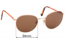 Sunglass Fix Replacement Lenses for Max & Co Sun Rx 01 - 54mm Wide