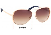 Sunglass Fix Replacement Lenses for Michael Kors Chelsea MK 5004 - 59mm wide