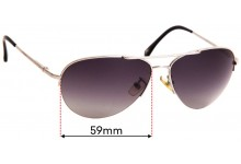 Sunglass Fix Replacement Lenses for Michael Kors M2049S Gansevoort - 59mm wide