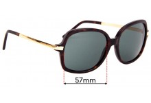 Sunglass Fix Replacement Lenses for Michael Kors MK2024 Adrianna II - 59mm wide