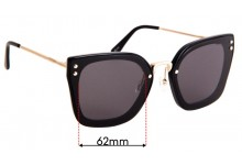 Mimco The Grid Replacement Sunglass Lenses - 62mm wide