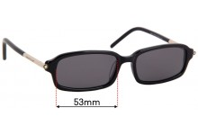 Sunglass Fix Replacement Lenses for Montblanc MB 115 - 53mm Wide