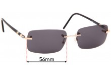 Sunglass Fix Replacement Lenses for Montblanc MB 85S - 56mm wide