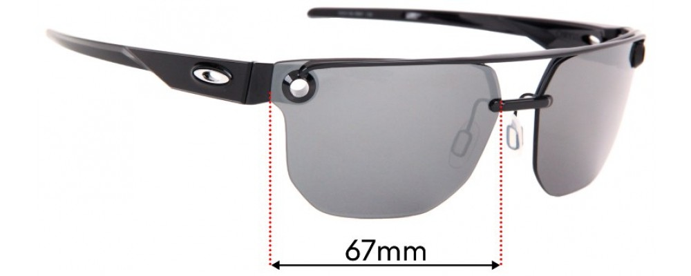 Oakley Chrystl OO4136 Replacement Sunglass Lenses - 67mm wide