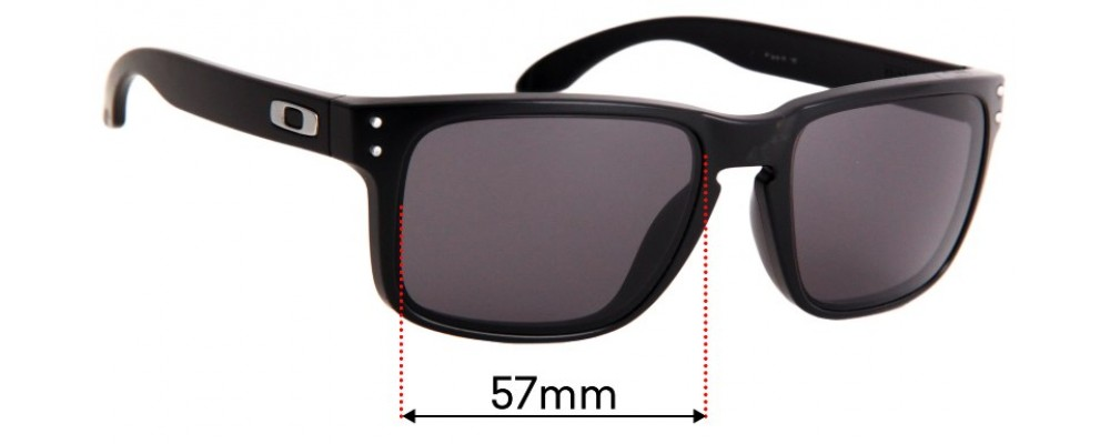 Oakley Holbrook Replacement Sunglass Lenses - 57mm Wide