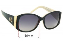 Sunglass Fix Replacement Lenses for Oroton Ashima - 56mm Wide