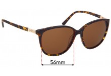 Oroton Lush Replacement Sunglass Lenses - 56mm Wide