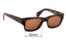 Sunglass Fix Replacement Lenses for Paul Smith Cortland PM8191-S - 52mm wide