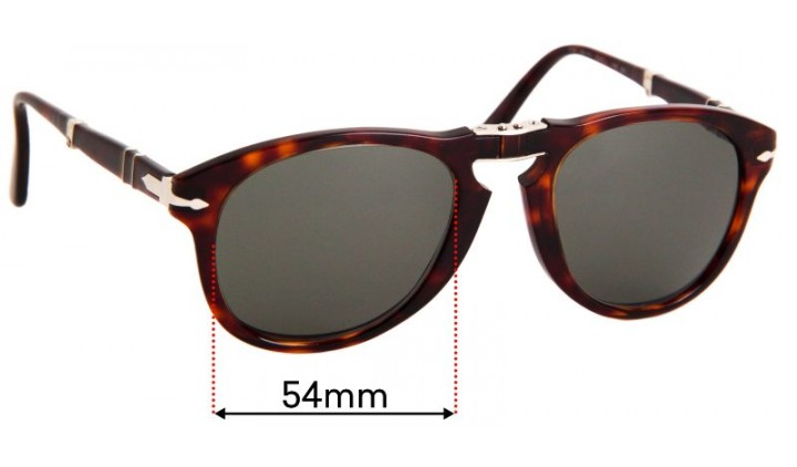 Lenses Spare Part Persol 714 52 51 Sole Brown Gradient Brown Faded Lenses