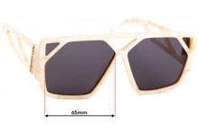 Poppy Lissiman Hotlick Replacement Sunglass Lenses - 65mm Wide