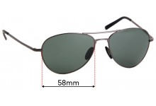 Sunglass Fix Replacement Lenses for Porsche P'8508 - 58mm wide