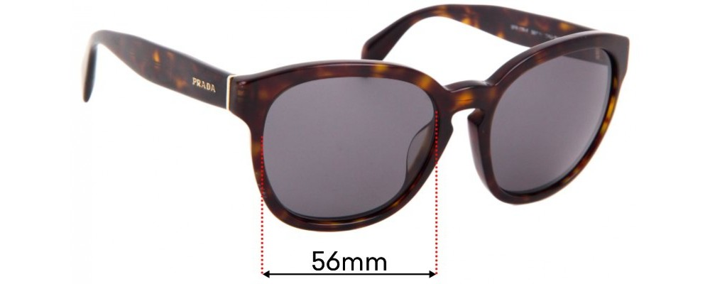 Prada SPR17R-F Replacement Sunglass Lenses - 56mm wide