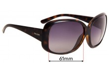 Prada SPR25N Replacement Sunglass Lenses - 61mm wide