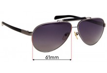 Sunglass Fix Replacement Lenses for Prada SPR 54N - 61mm Wide
