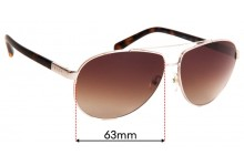Prada SPR67O Replacement Sunglass Lenses - 63mm Wide
