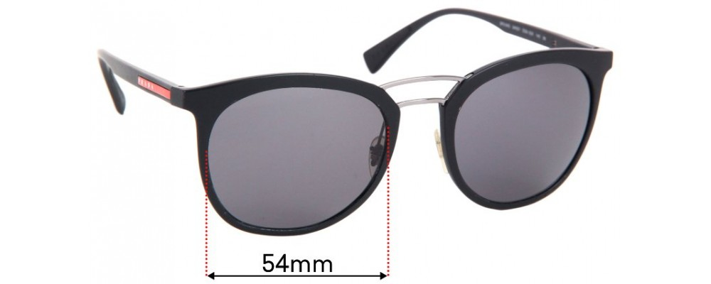 Sunglass Fix Replacement Lenses for Prada SPS04S - 54mm Wide