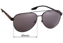 Sunglass Fix Replacement Lenses for Prada SPS54T - 61mm Wide