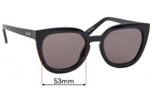Quay Australia Noosa Replacement Sunglass Lenses - 53mm wide