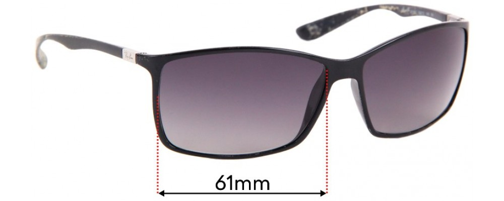 Ray Ban RB4179 Liteforce Replacement Sunglass Lenses - 61mm wide