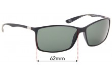 Sunglass Fix Replacement Lenses for Ray Ban RB4179 Liteforce - 62mm wide